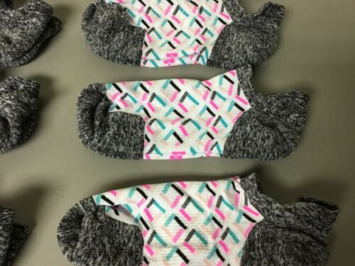 Women/'s Hue Nylon Blend Tab Footie Socks Medium White Multi 12 Pair #656R