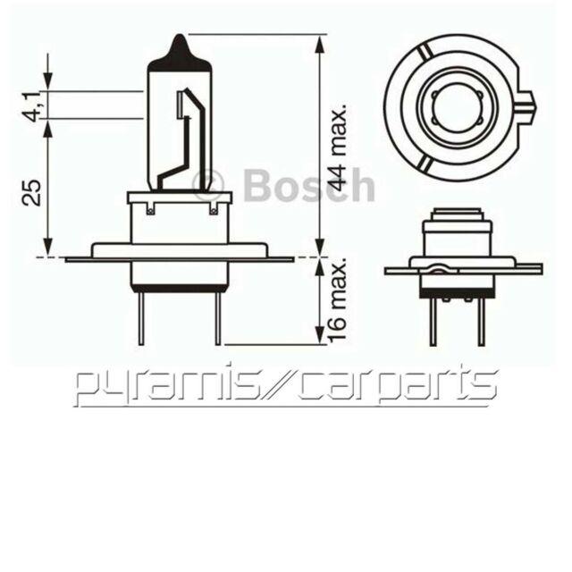 Nouveau 1x Bosch 1987302071 Ampoule, Phares h7 55 W 12 V (€ 10,95/eh)