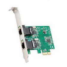 Syba 2 Port Ethernet PCI-e x1 Card Realtek RTL8111 Chipset Standard&Low Profile