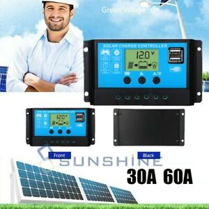 PWM-Solar-Charge-Controller-30-60A-Solar-Charger-Controller-12V-24V-Solar-Panel