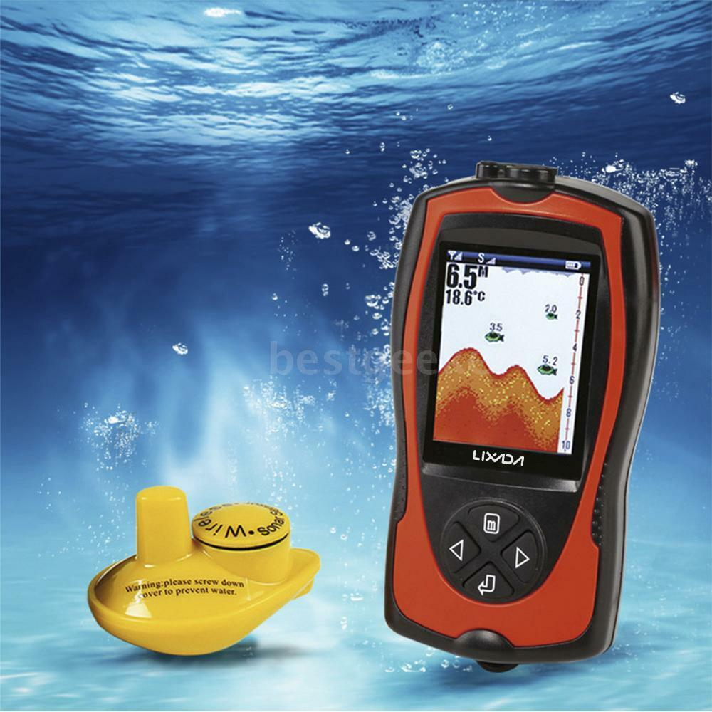 Lixada Sonar Transducer Depth Locator ICE Fish Finder Alarm Fish Detector Y5T6