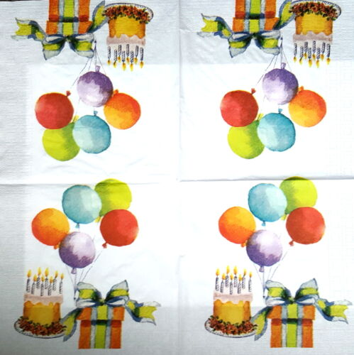4 Vintage Papel Servilletas Para Decoupage almuerzo DECOPATCH Craft Fiesta De Cumpleaños Día
