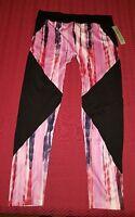 Soho Lady Black & Pink Full Length Active Leggings Women's Size Xl