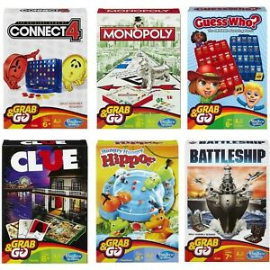 Hasbro-Travel-Grab-amp-Go-Games-Connect-4-Monopoly-Battleship-Cluedo-Guess-Who