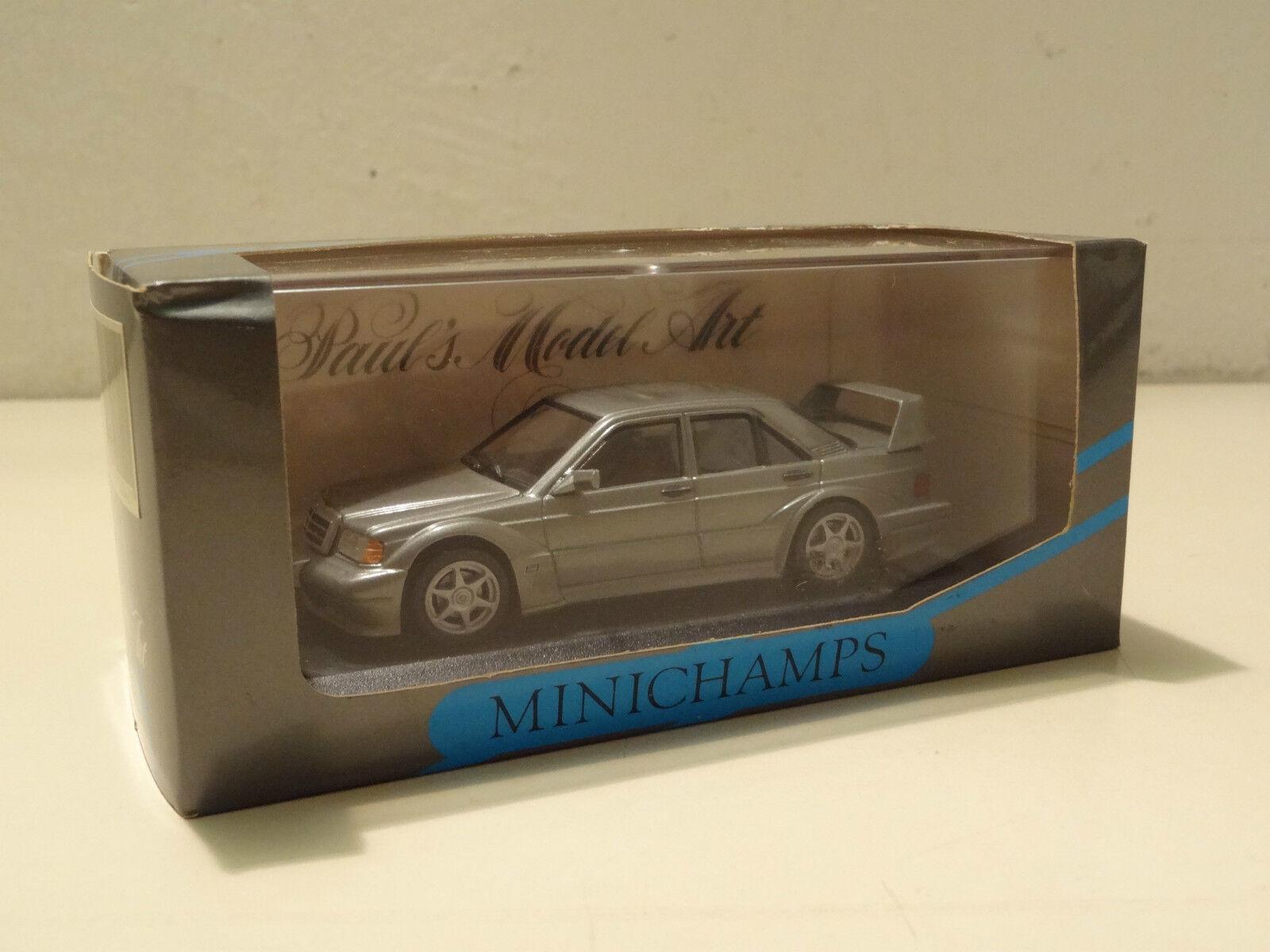 Mercedes-benz 190 e evo 2 Street Pearl gris met. - Minichamps 1 43