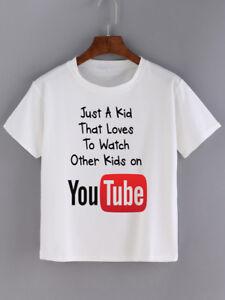 Solo-un-bambino-che-ama-per-guardare-gli-altri-bambini-su-YouTube-T-Shirt-Ragazzi-Ragazze-Giochi