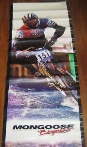 Mongoose-BMX-Cycles-Bicycles-1990s-Authentic-Store-Advertisement-Banner