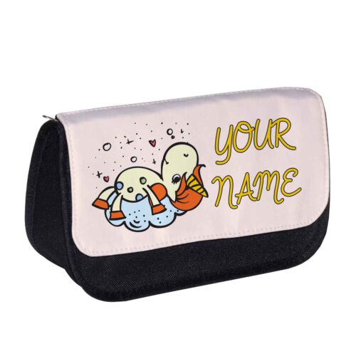 Personalised Daydreaming Unicorn Pencil caseMake up bag emoji girls