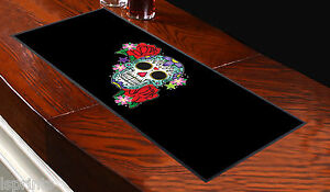 Green Candy Skull Design Bar Runner Pub Club Shop Party Great Gift Idea