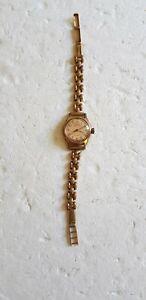 Montre bracelet ancienne de femme  marque BUXY femme vintage bracelet plaqué or
