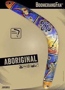 Trempé Boomerang Boomerangfan Aboriginal Classique Bois Sport Boomerang-afficher Le Titre D'origine Beau Travail