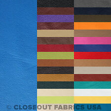 Vinyl Fabric - Faux Leather Pleather Fabric - Upholstery Fabric - 30 Colors