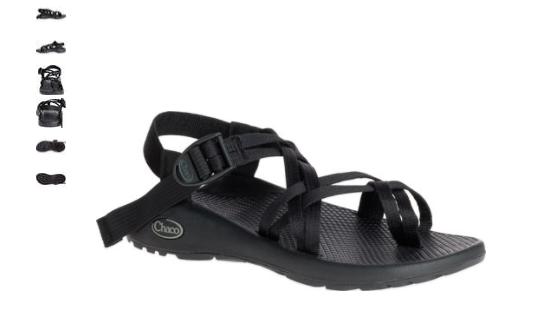 Chaco ZX 2 Classic Black Comfort Sandal Women's sizes 5-11 NIB