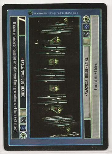 Star Wars CCG Reflections II Ref II Foil VRF Executor Holotheatre