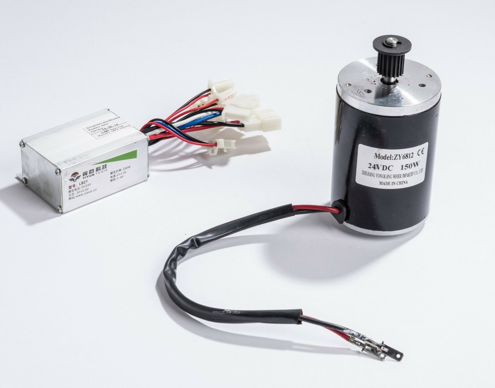 150W 24 V Volt electric brush motor & Yiyun LB27 speed control box kit DIY