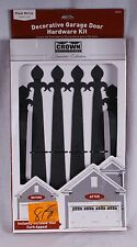 Crown Metalworks Fleur De Lis Carriage House/Garage Door/Gate Decorative Hardwar