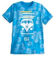 Disney Store Cars Fillmore Hippy Blue surfs Up Mens T Shirt Tee Size Small