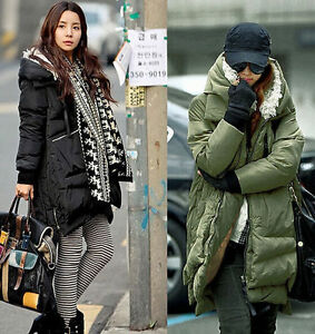 Q005-Winter-Womens-army-Duck-Down-coat-long-jacket-outwear-padded-trench-parkas