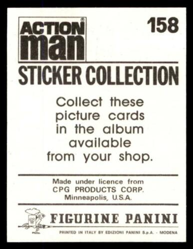Panini Action Man Sticker 1983 No 158