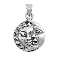 Sun and Moon .925 Sterling Silver Pendant
