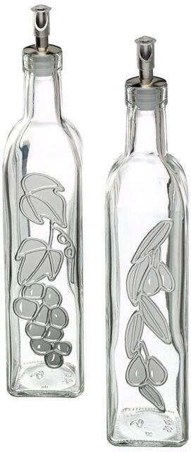 World of Flavours Italian Glass Oil and Vinegar Bottles - Set of 2