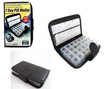Deluxe 7 Day Pill Organizer Dispenser Box In Wallet Weekly Medicine Travel Case
