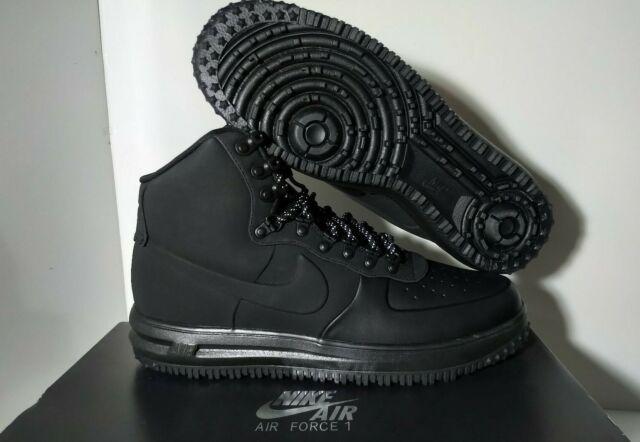 2018 DS Nike Air Force 1 Lunar Duckboot '18 Size 13 Triple Black BQ7930-003 NEW