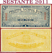 PHILIPPINES FILIPPINE - 1 PESO CEBU 1941  Emergency Guerrilla - P S215 - SPL/XF