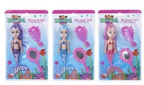 Mermaid Doll avec Brosse et miroir bon marché Jouet Fille Cadeau Noël Stocking Filler
