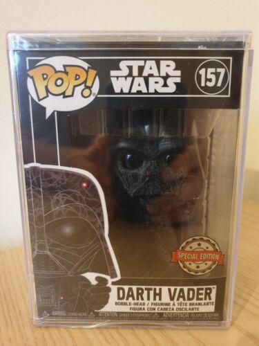 Star Wars Darth Vader Futura Funko Pop Vinyl #157 In Funko Hard Stack Case