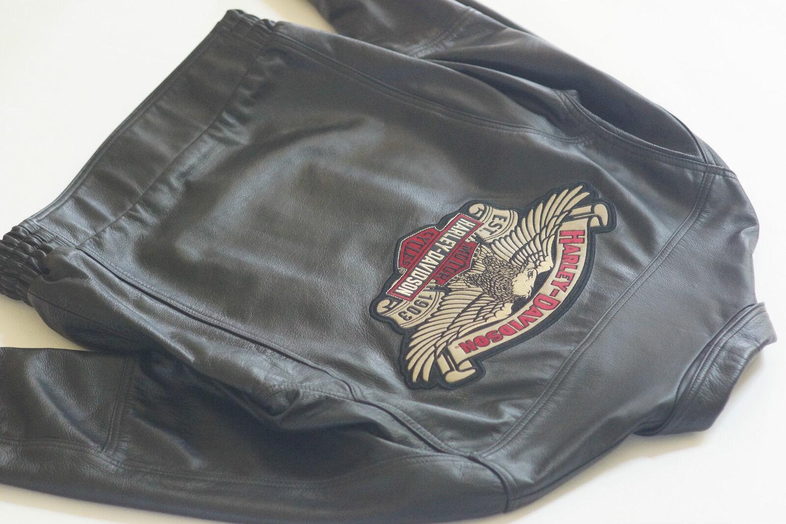Harley Davidson Uomo Made in USA Aquila Nera Overdrive Giacca pelle Nera Aquila S 97024-05VM 3a1ffa