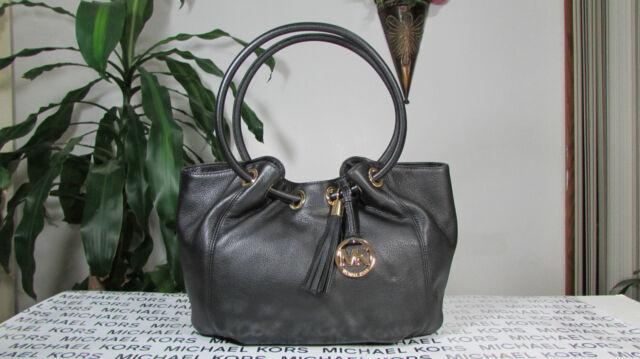 13d476e97d83 Michael Kors Bag Leather EW Ring Tote Purse DESIGNER Handbag 35S3GRTT6L