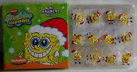 Christmas Set Of 12 Spongebob Squarepants Mini Ornaments, New, Free Shipping