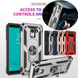 For-Samsung-Galaxy-J6-J4-J8-A7-A8-2018-Hybrid-Armor-Ring-Holder-Hard-Case-Cover
