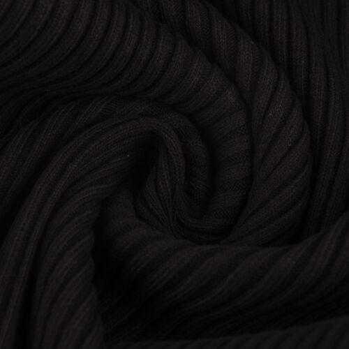Strickschlauch Bündchenstoff Strick grob schwarz 37cm Breite