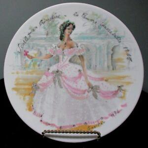French Collector Plate D\u2019Arceau Limoges Women Of The Century Scarlet En Crinoline Le Femme Inaccemble 1865 Porcelain Collectible