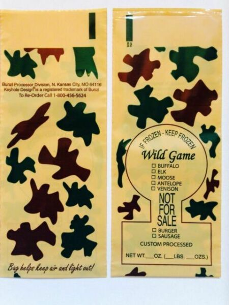 2lb Meat Freezer Bags 100 Count Venison Wild Game