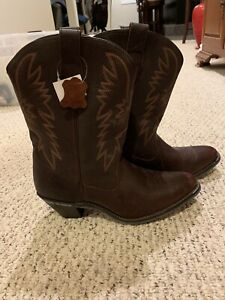 Womens-Western-Leather-Cowboy-Boots-Size-12M-Very-Good-Condition