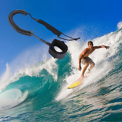 Double High Quality Surfboard Leash Surfing Stand Up Paddle Board Leash Coiled Cord SUP for All Types of Surfboards