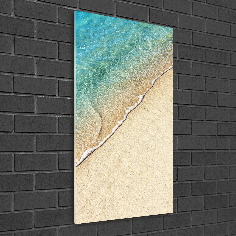 Immagine muro ARTE-STAMPA su duro-vetro ad alta Kant 50x100 ONDA MARE