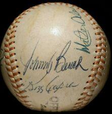 JOHNNY BENCH Signed BASEBALL hof BALL multi 1970s vtg old ALOU Reds Team RARE