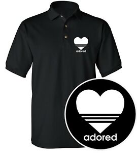 Adored Classic Polo T Shirt Stone Roses Concert Rock Band Inspired Retro Top Attraktive Designs;