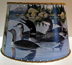 Loon lamp shade 10 x 12 rustic cabin decor ebay image is loading loon lamp shade 10 034 x 12 034 aloadofball