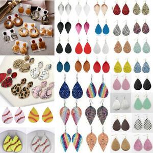 Women-Bohemia-Leather-Leaf-Teardrop-Earrings-Ear-Stud-Hook-Drop-Dangle-Jewelry