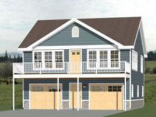 30x32 House -- 2 bedroom 1.5 Bath -- 961 sqft -- PDF Floor Plan -- Model 1E