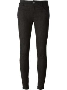 skinny Jean taille noir jean mi en finitions et haute en cuir Ford Tom EpwW5Hqwt
