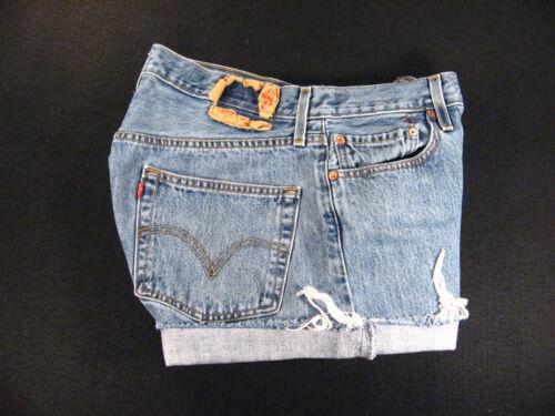 vintage tagliati margherita 501 32 tagliati alta vita misurati jeans Pantaloncini Levis pantaloni a 1ZqCxE8w