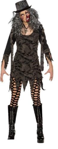 Umhang mit Kaputze Cape Fetzen Kostüm Kleid Dracula Vampir Zombie Hexe Hexen Hut