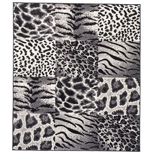 teppich tierfell muster zebra safari afrika karo modern grau 200x300 160x230 ebay. Black Bedroom Furniture Sets. Home Design Ideas