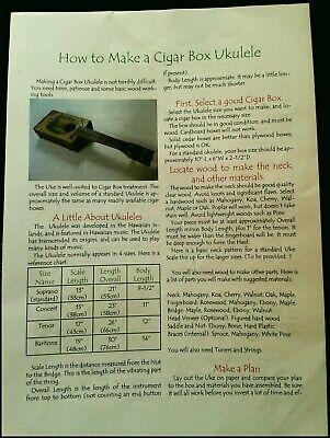 Ukulele How To Make A Cigar Box Ukulele Bau & Arbeitsbook By Steven Miller's Diy Grade Produkte Nach QualitäT